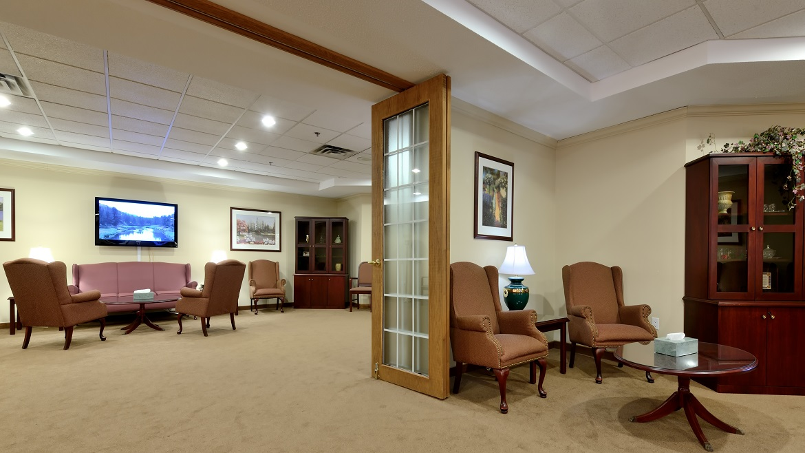 Funeral Home Reception Room