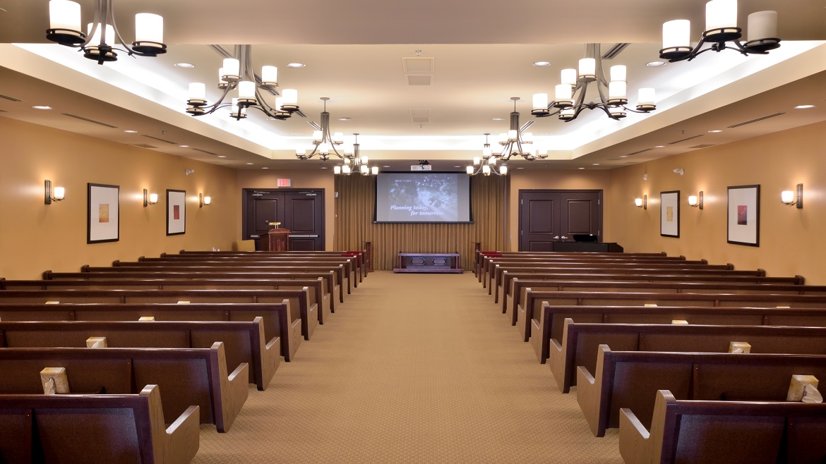 Chapel with audio visual system