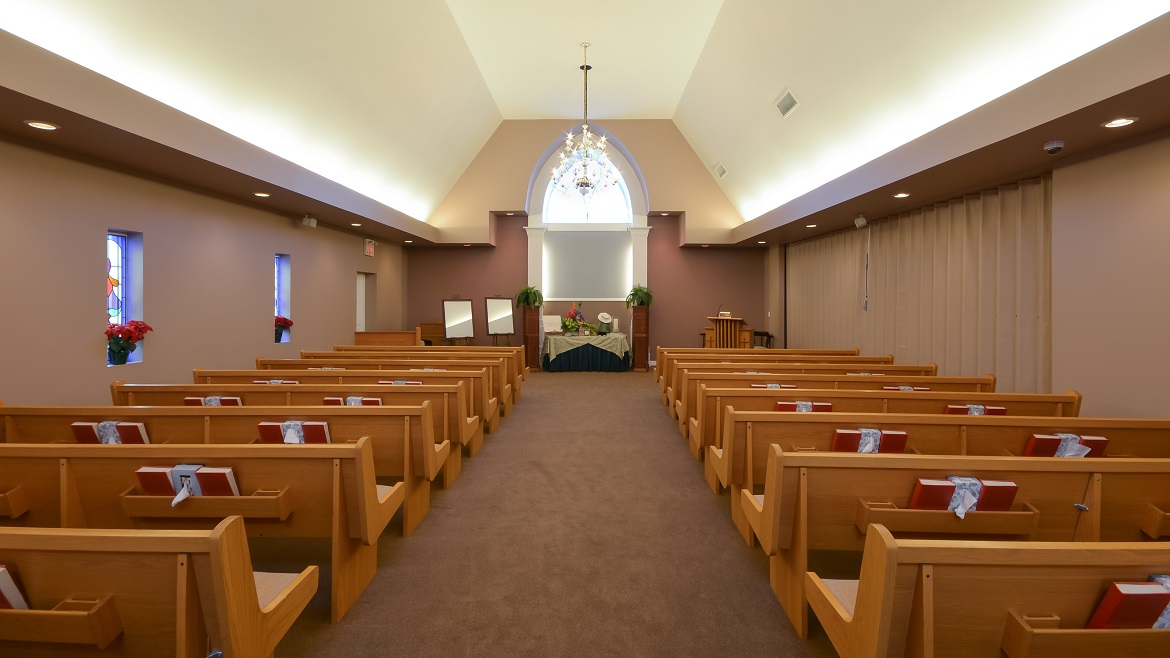 Modern chapel for services and celebration of life events