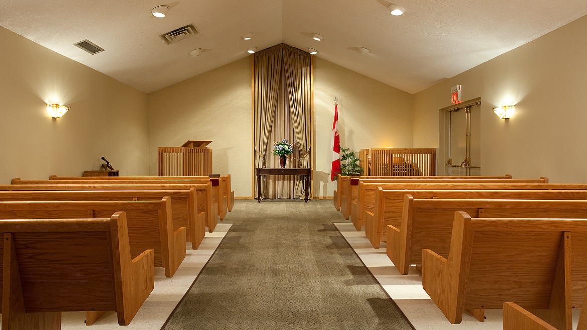 Modern Funeral Home Chapel for services or Celebration of Life events