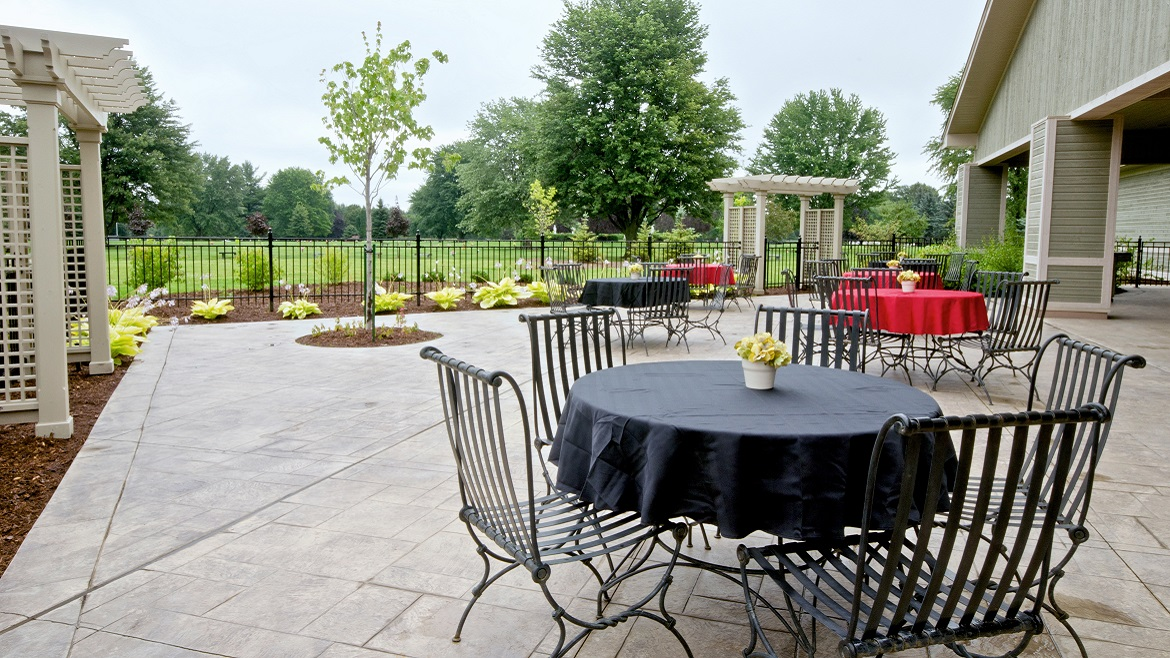 Outdoor reception area