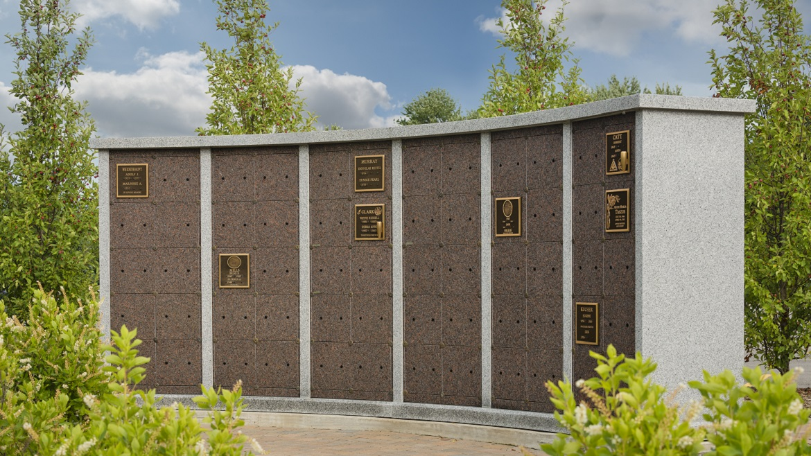 Above-ground columbarium niches