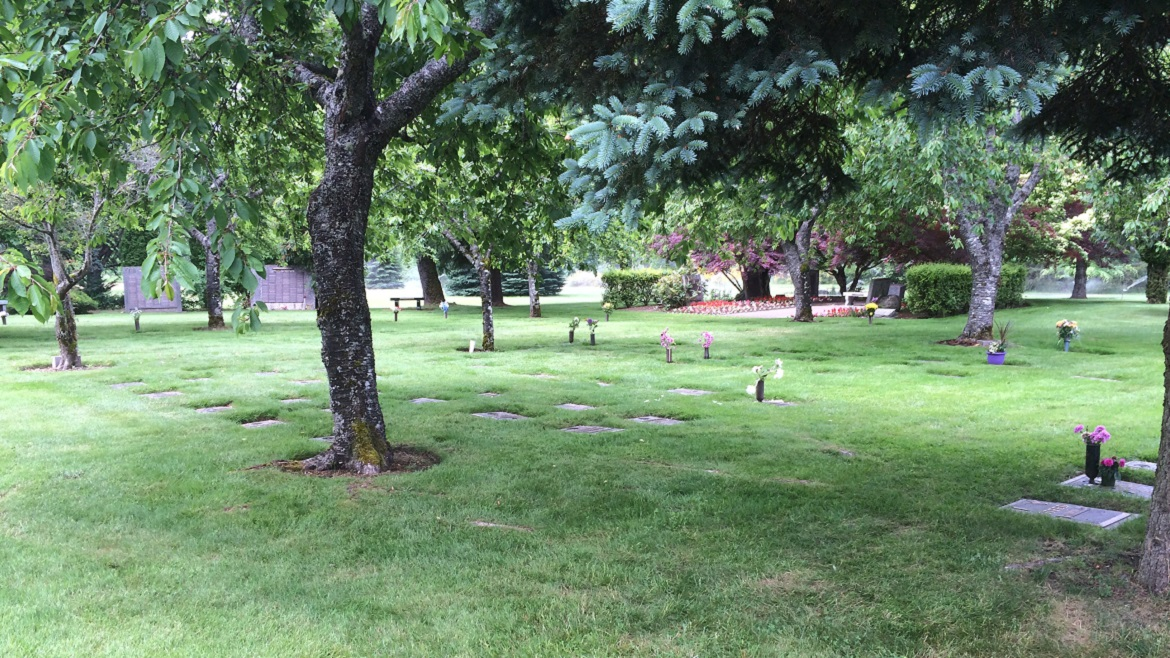 Traditional burial gardens