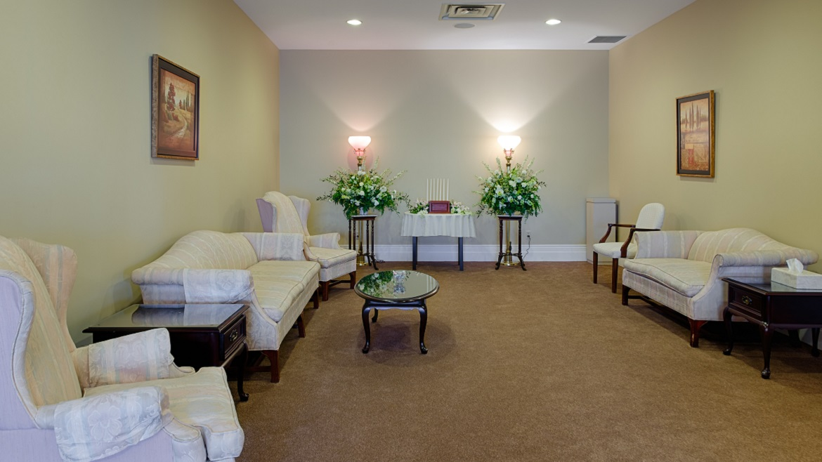 Elegant visitation rooms