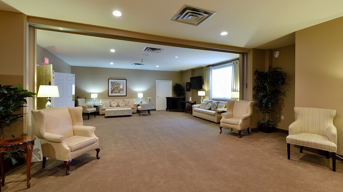 Large elegant reception rooms