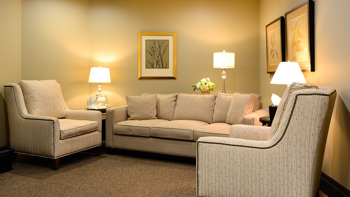 Elegant funeral home facilities