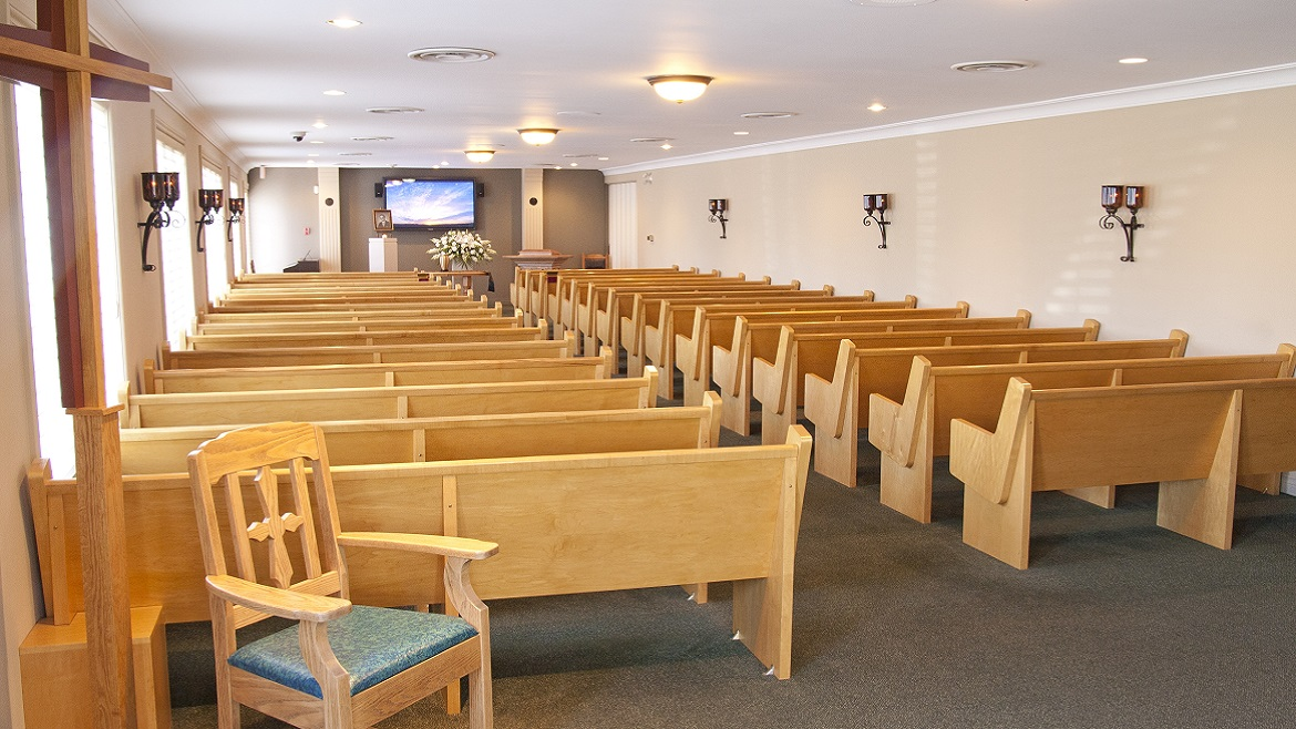 Funeral home chapel for services Celebration of Life events