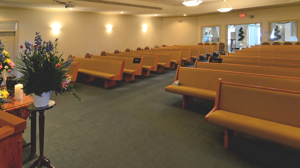 Onsite funeral home chapel
