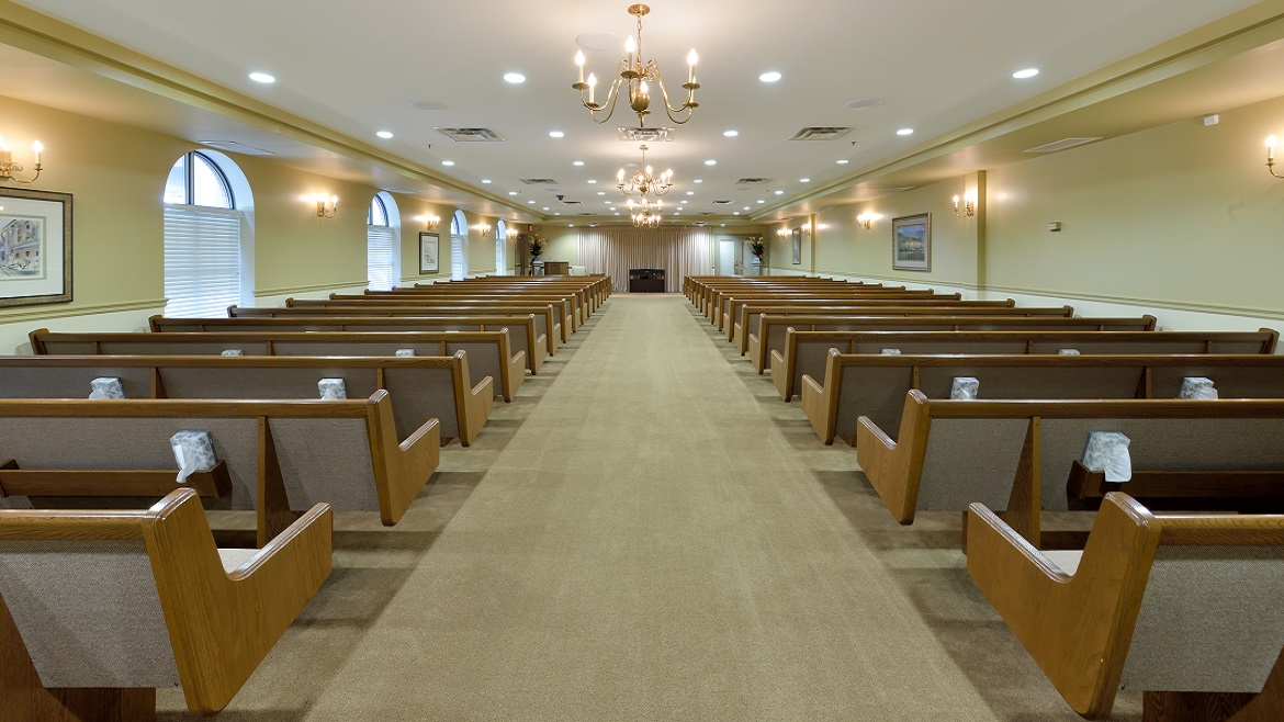 Chapel with seating for 300