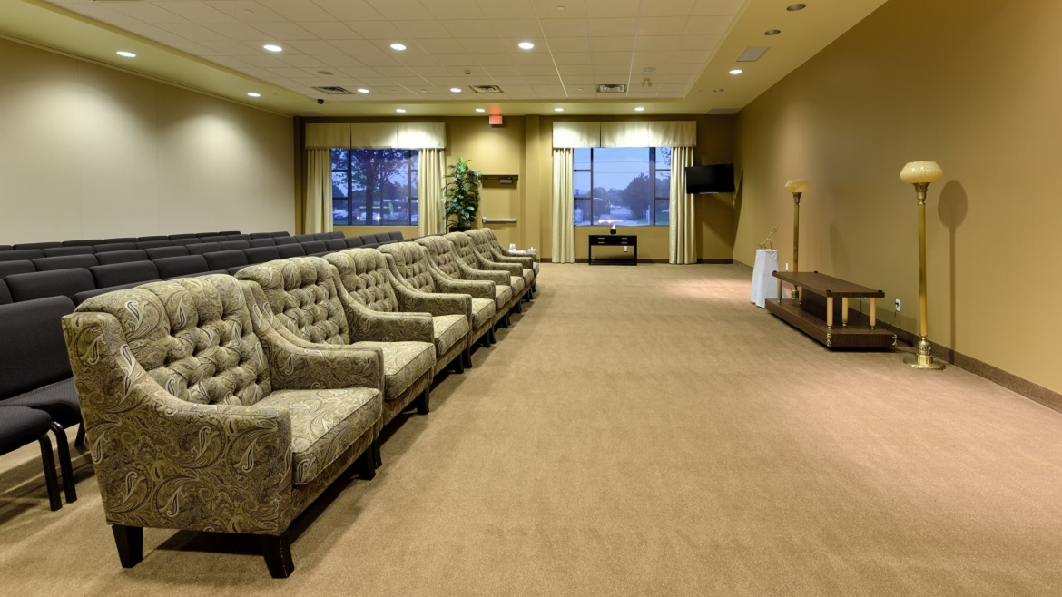 Large visitation rooms that can also be used for Celebration of Life events