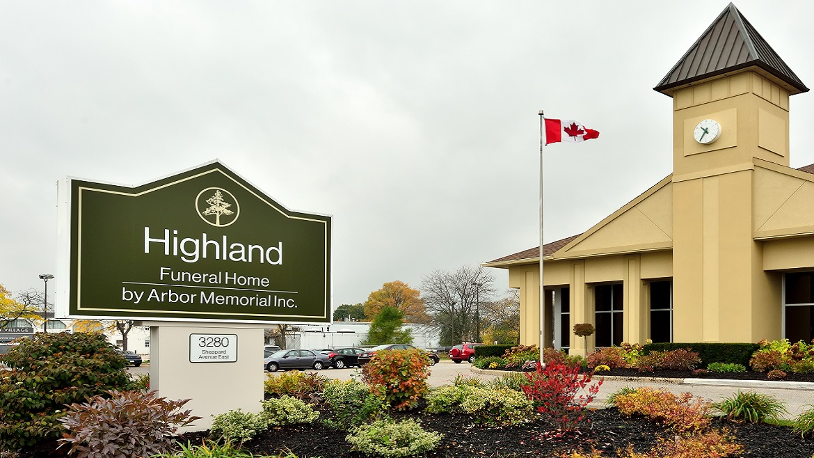 Modern funeral home in Scarborough