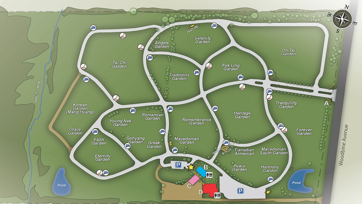 Highland Hills cemetery map