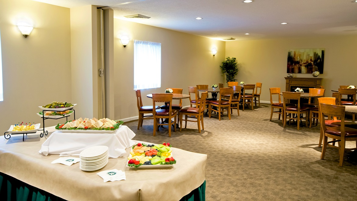 Funeral Home reception area