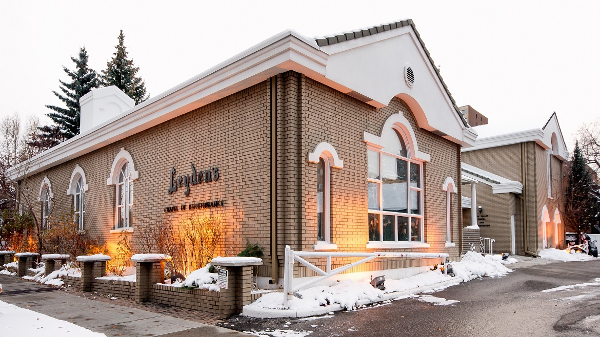 Modern funeral home located in downtown Calgary