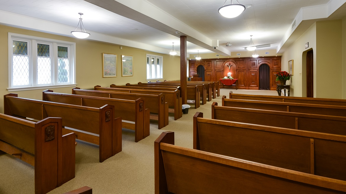 Funeral HOme Chapel can accommodate 150 people