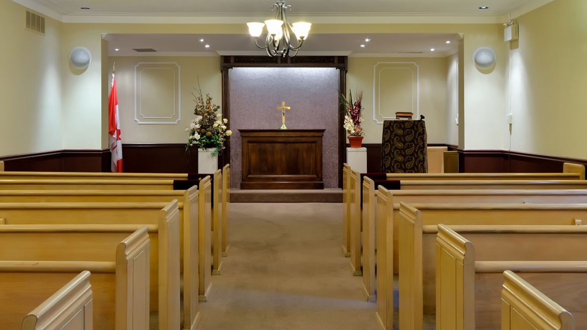 Funeral Home Chapel seats 125 people