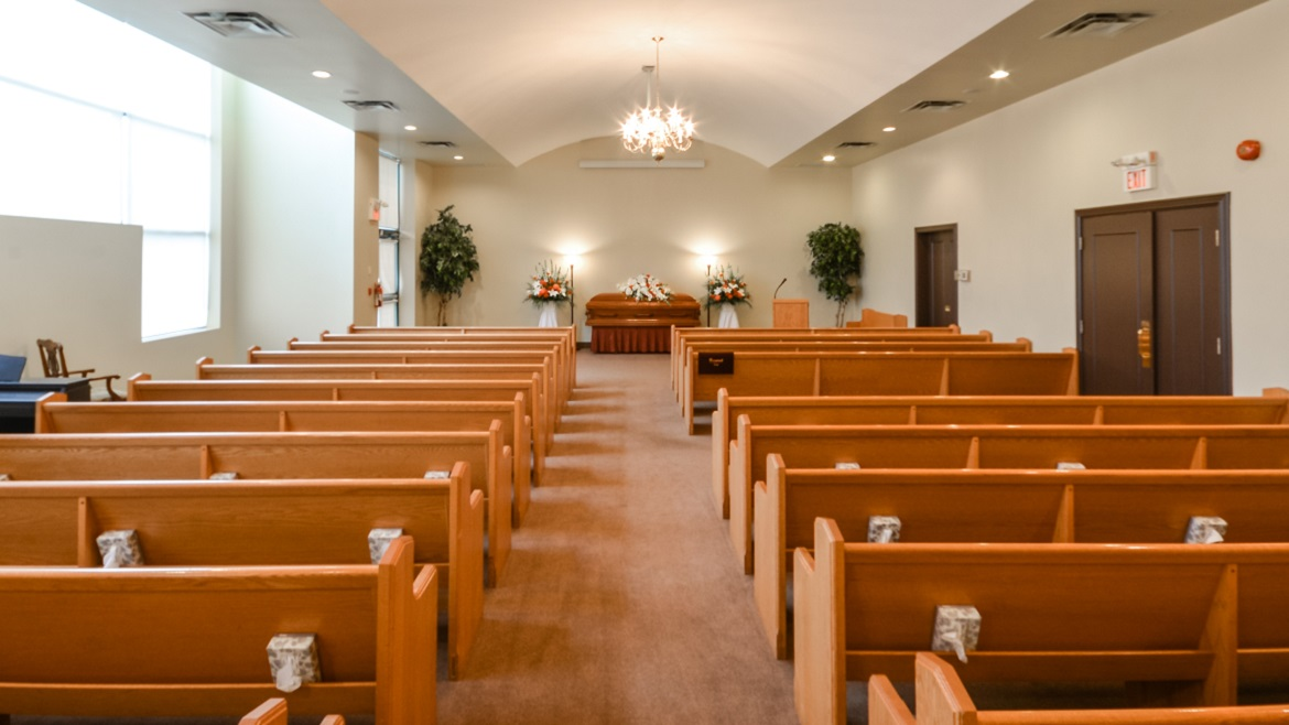 Funeral Home Chapel with seating for 150 people