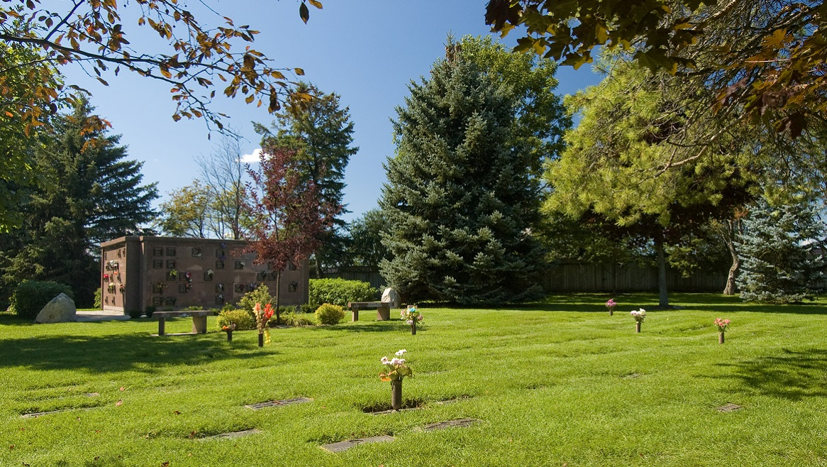 74 acres of cemetery grounds with a funeral on-site