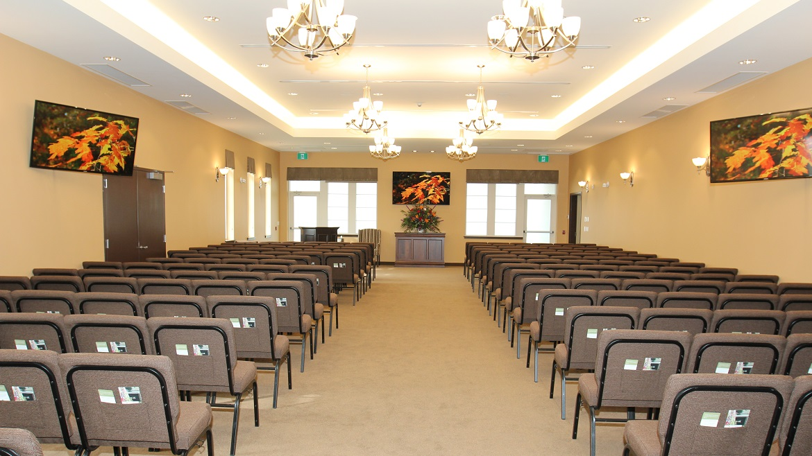 Two funeral home chapels that seat 240 & 275 people