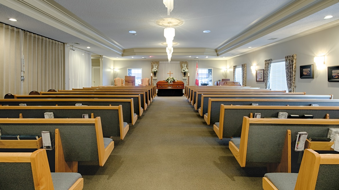Funeral home chapel