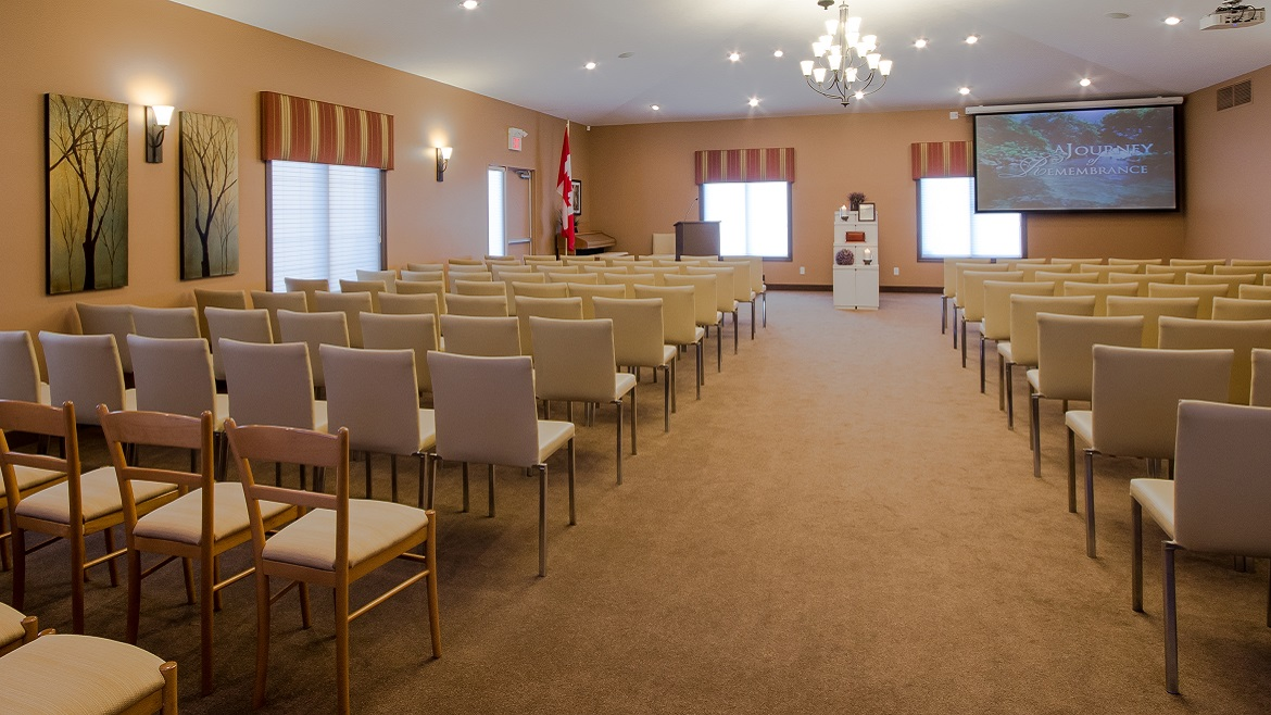 Funeral Home Chapel seats 150 people