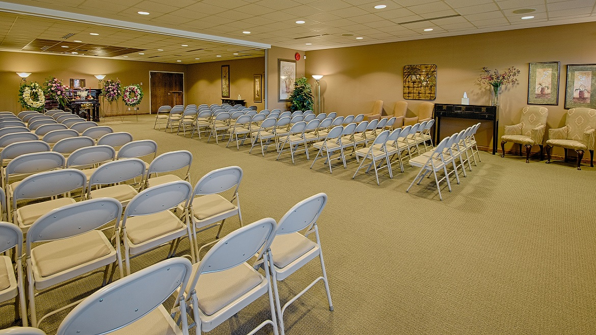 Large reception and visitation rooms