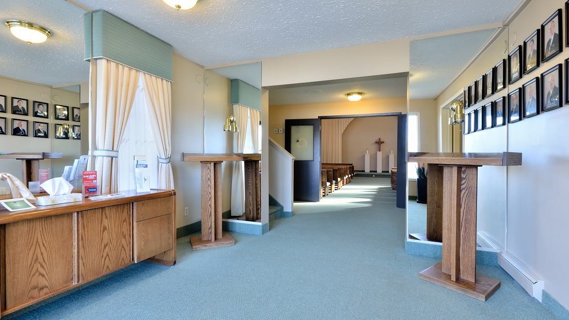 modern funeral home in Prince Albert