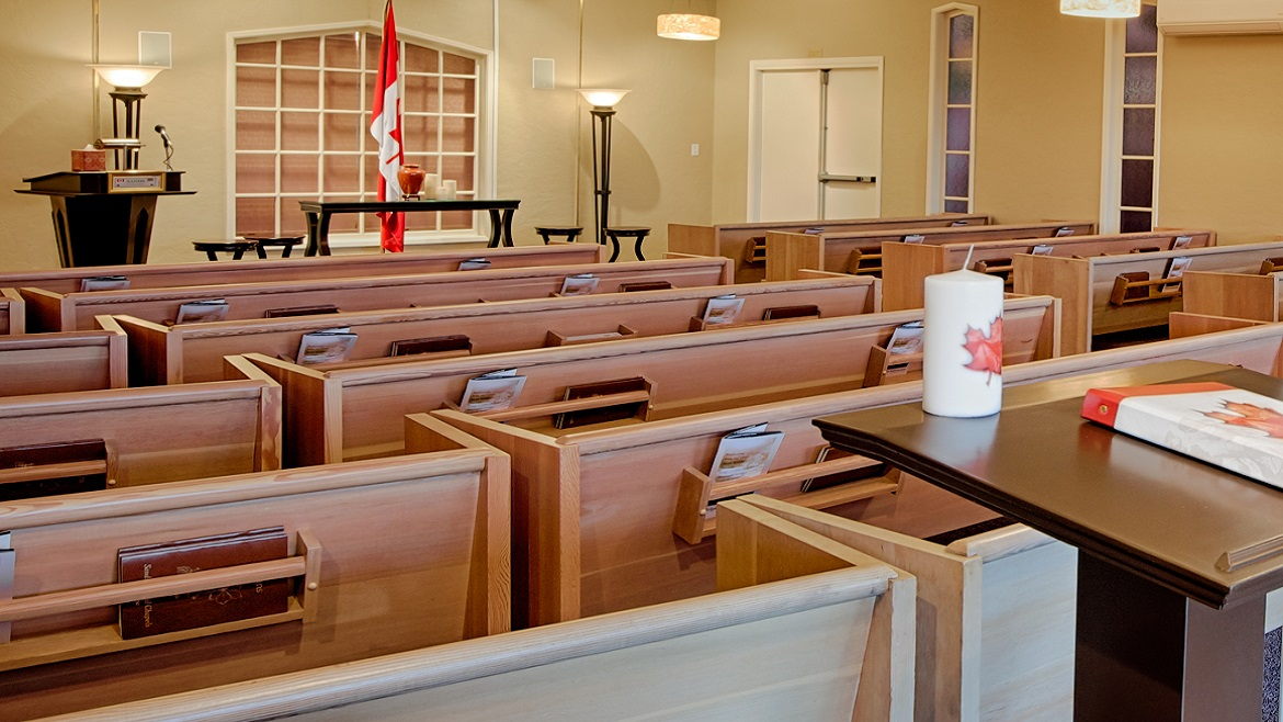 Funeral home chapel seats 175 people