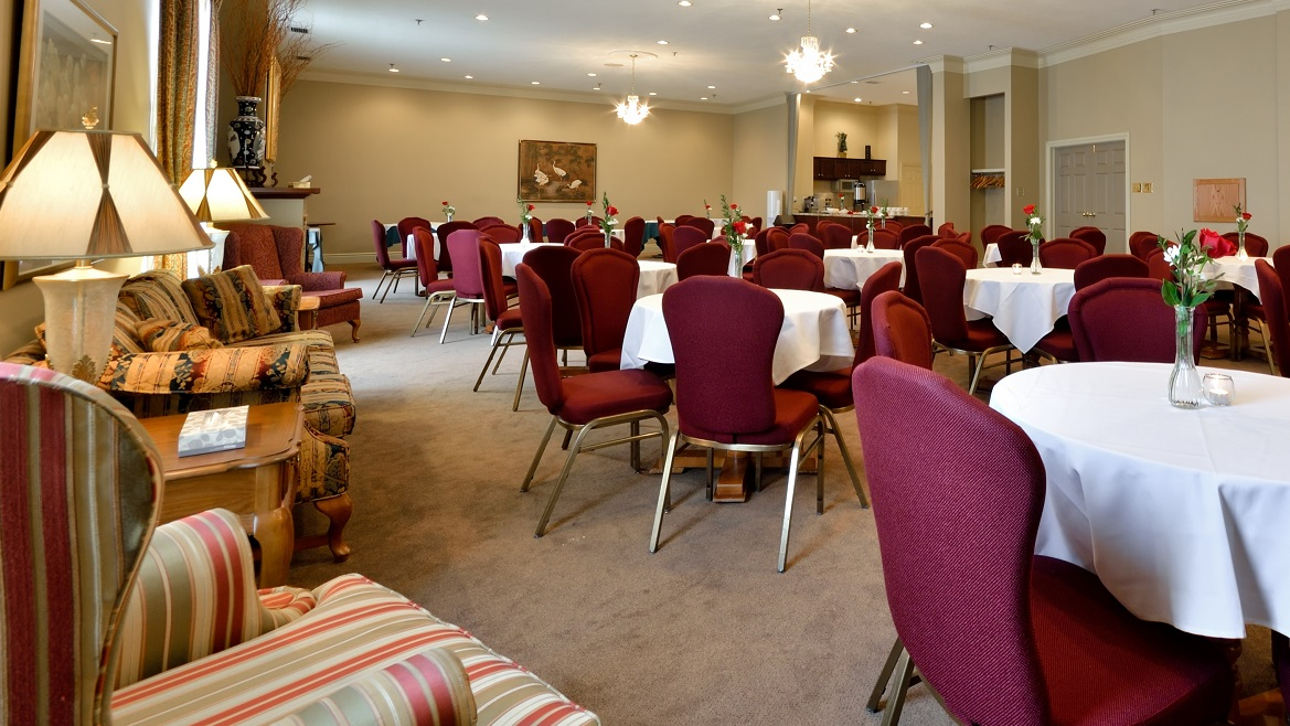 Reception rooms for Celebration of Life events
