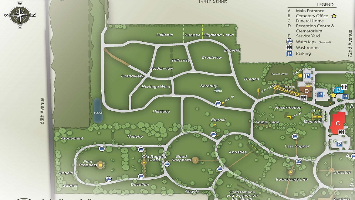 Valley View cemetery map