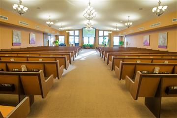 Funeral Home chapel and memorials