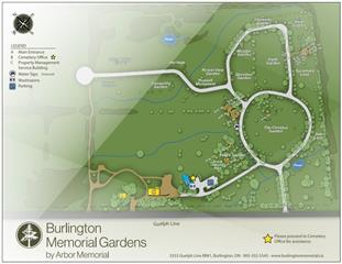 burlington cemetery map