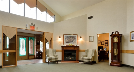 Interior photo of Butler Funeral Home Niagara Street Chapel
