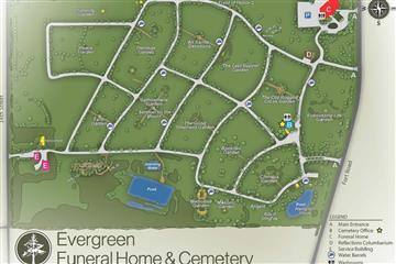 evergreen cemetery map