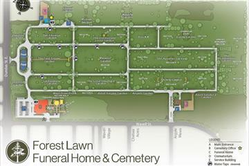 forest lawn cemetery map