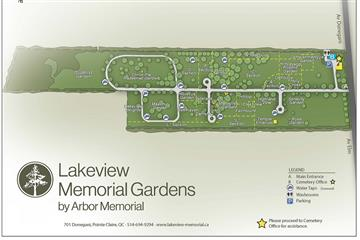 Lakeview cemetery map