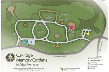 oakridge memorial gardens map