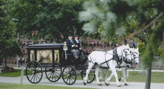 Pleasantview Funeral Home and Cemetery horse drawn funeral carriage