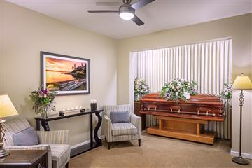 visitation room at the funeral home