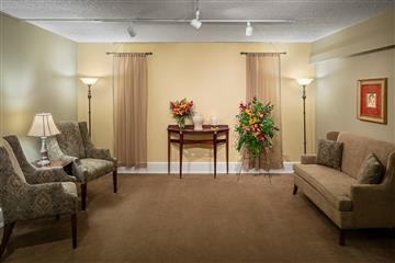visitation room in funeral home
